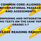 Common Core Grades 5-7: Comparing and Integrating Texts On