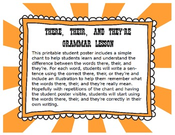 Common Core Grammar Lesson There, Their, and They're