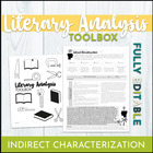 Common Core Graphic Organizer: Indirect Characterization RL9-10.3