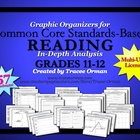 Common Core Reading Graphic Organizers Grades 11-12 Multi-