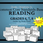 Common Core Graphic Organizers Grades  6, 7, 8 Multi-Use License