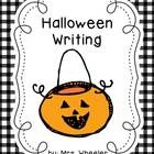 Common Core Halloween Writing Set