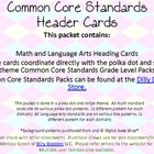 Common Core Header Cards Dots And Stripes