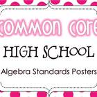 Common Core High School Algebra Standards Posters {Polka D