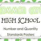 Common Core High School Number/Quantity Standards Posters 