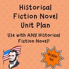 Common Core Historical Fiction Novel Unit Plan - Use with 