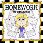 Common Core Homework for Fifth Grade