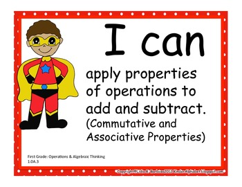 Common Core I Can Posters for First Grade Language Arts