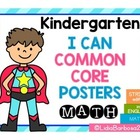 Common Core I Can Posters for Kindergarten Math