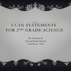 Common Core I Can Statement 2nd Grade Science