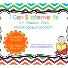 Common Core I Can Statements for 1st Grade