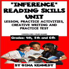 Common Core Inference (Inferencing) Reading Skills Review