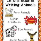 Common Core Informational Writing: Animal Bundle