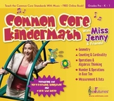 Common Core KinderMath Music CD / 30 Songs, 57 P. Book / K