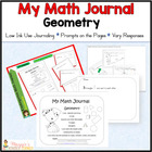 Common Core Kindergarten Geometry Journal