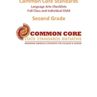 Common Core Language Arts Standards Chart - Second Grade PDF