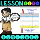 Common Core Lesson Plan Template With Drop Down Boxes 5th