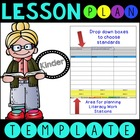 Common Core Lesson Plan Template With Drop Down Boxes K La