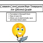 Common Core Lesson Planning Templates in Microsoft Word fo