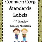 Common Core Lesson Plans Labels - 1st Grade