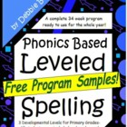 Common Core Leveled Spelling Free Sampler!