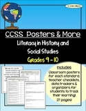 CCSS - Literacy In History/Social Studies Gr 9-10 Posters & More