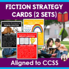 Common Core Literature Fiction Reading Strategy Cards
