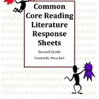 Common Core Literature Response Sheets for Reading Second Grade
