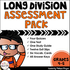 Common Core Long Division Assessment Pack