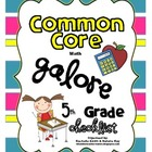 Common Core MATH Galore {5th Grade Checklist}