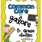Common Core MATH Galore {6th Grade Checklist}