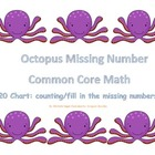 Common Core Math 120 chart fill in the blank/ counting