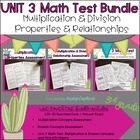 Common Core Math 3rd Grade Assessment PACK UNIT 3 (OA.5-7)