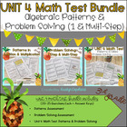 Common Core Math 3rd Grade Assessment PACK UNIT 4 (OA.8-9; MD5-7)