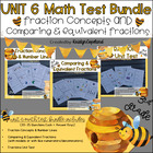 Common Core Math 3rd Grade Assessment PACK UNIT 6 (NF.1-3)