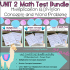 Common Core Math 3rd Grade Assessment PACK Unit 2