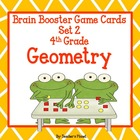 Common Core Math 4th Gd. Brain Booster Game Cards Geometry Set 2