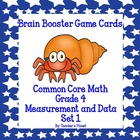 Common Core Math 4th Grade Brain Booster Game Cards Measur