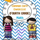 Common Core Math  4th Grade Checklist