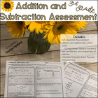 Common Core Math Assessment 3rd Grade NBT.2 Addition and S