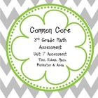 Common Core Math Assessment Grade 3 Unit 7 Assessment (Mea