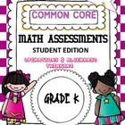 Common Core Math Assessment Kindergarten Operations