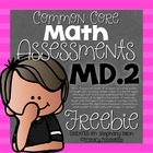 Common Core Math Assessment for 1.MD.2