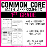 Common Core Math Assessments - 1st (First) Grade
