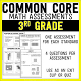 Common Core Math Assessments - 3rd (Third) Grade