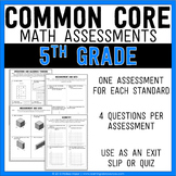 Common Core Math Assessments - 5th (Fifth) Grade