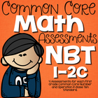 Common Core Math Assessments- First Grade NBT (1.NBT.1, 1.