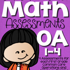 Common Core Math Assessments- First Grade OA (1.OA.1, 1.OA