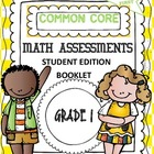 Common Core Math Assessments Student Editon Booklet 1st grade