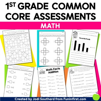 Common Core Math Assessments for 1st Grade